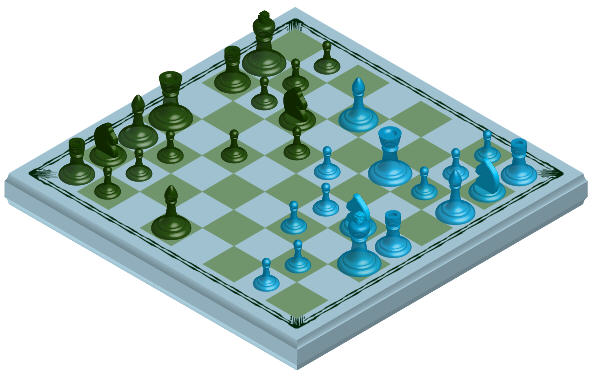 arranged chess board