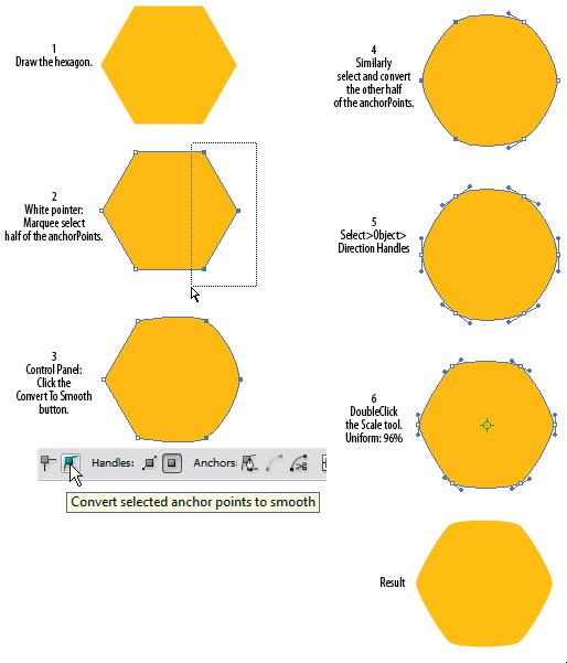 Rounded corner hexagon | Adobe Community